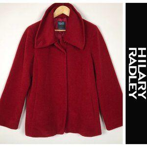 Hilary Radley Suri Alpaca Blend Swing Short Coat
